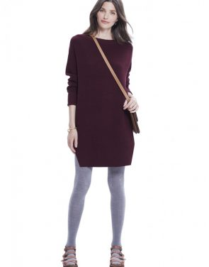 photo The Waffle Crew Dress by Hatch Collection, color Red Wine - Image 1