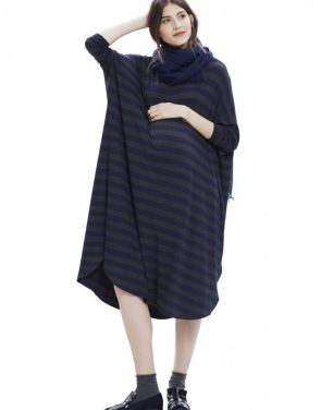photo The Jersey Drape Dress by Hatch Collection, color Charcoal Navy - Image 2
