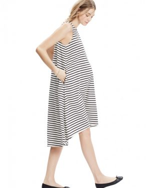 photo The Nantucket Dress by Hatch Collection, color Black Ivory Stripe - Image 2