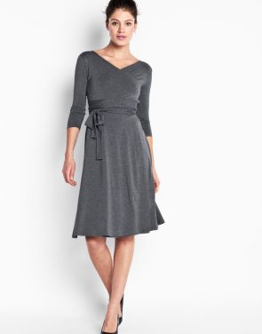 photo Sutton Wrap Dress - Grey, color Grey - Image 2