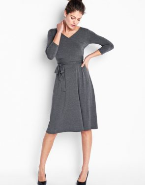 photo Sutton Wrap Dress - Grey, color Grey - Image 1