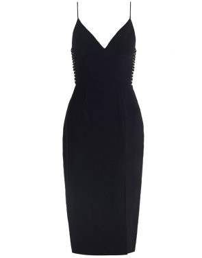 photo Crepe Harness Midi Dress by Zimmermann, Black color - Image 1