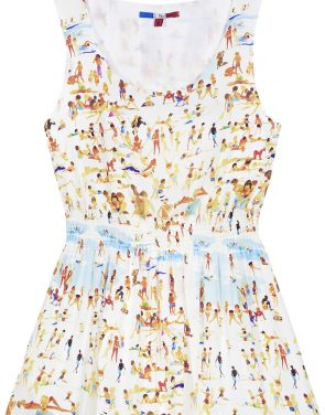 photo Silk Beach Dress by G. Kero, Print Beach color - Image 2