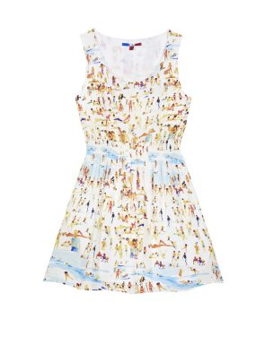 photo Silk Beach Dress by G. Kero, Print Beach color - Image 1