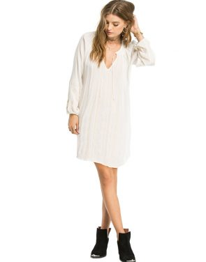 photo Finley Tunic Dress by Amuse Society AD23AFINS16, Casa Blanca color - Image 1