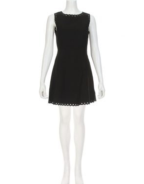photo Celine Scalloped Grommet Dress by Suncoo CELINEF16, Black color - Image 2