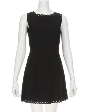 photo Celine Scalloped Grommet Dress by Suncoo CELINEF16, Black color - Image 1