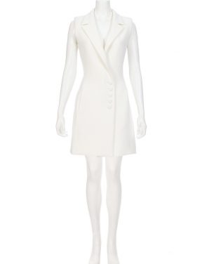 photo Textured Crepe Sleeveless Dress by Nicholas D1015TCA16, Ivory color - Image 2