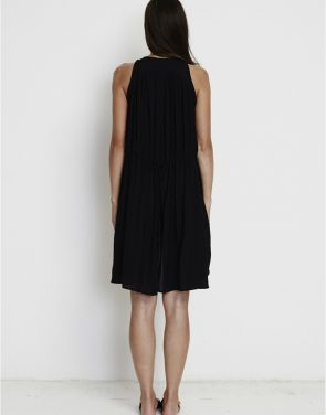 photo Coco Hi-Low Tunic Dress by Faithfull The Brand FF721S16, Black color - Image 2