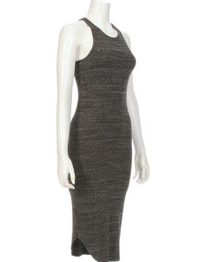 photo Stretch Rib Mid Length Tank Dress by Monrow HD00751F16, Charcoal color - Image 2