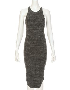 photo Stretch Rib Mid Length Tank Dress by Monrow HD00751F16, Charcoal color - Image 1