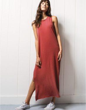 photo Sleeveless Maxi Dress - Tee Lab By Frank & Eileen LAB405S16, Vintage Red color - Image 1