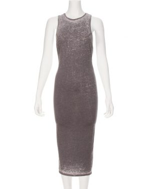 photo Darby Twist Back Maxi Dress by Nytt NYD3055S16, Grey color - Image 1