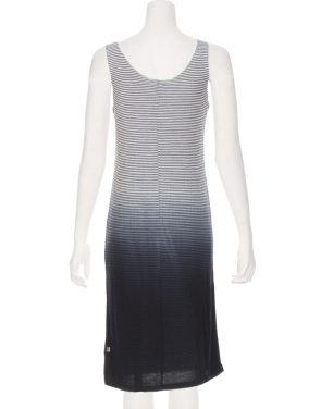 photo Brie Stripe Tank Dress by Nytt NYD3098S16, Navy Dip Dye color - Image 2