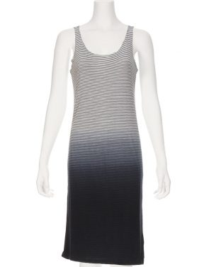 photo Brie Stripe Tank Dress by Nytt NYD3098S16, Navy Dip Dye color - Image 1