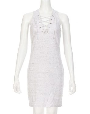 photo Patsy Lace Up Tank Dress by Nytt NYD3103S16, Marble Ponte color - Image 1