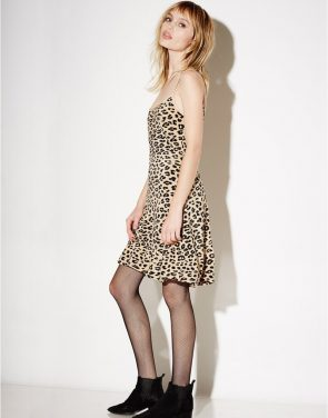 photo Jessa Bias Slip Dress by Kate Moss For Equipment Q2359E744F16, Leopard Print color - Image 2