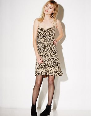 photo Jessa Bias Slip Dress by Kate Moss For Equipment Q2359E744F16, Leopard Print color - Image 1