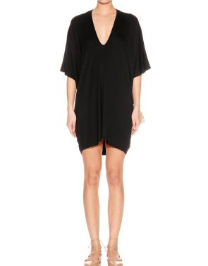 photo Lola Mini Kaftan by Riller & Fount SM16LOTUCON, Black color - Image 1