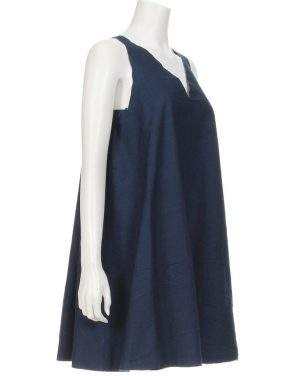photo Unfinished Tank Dress by Harvey Faircloth T13-DR04S16, Indigo color - Image 2