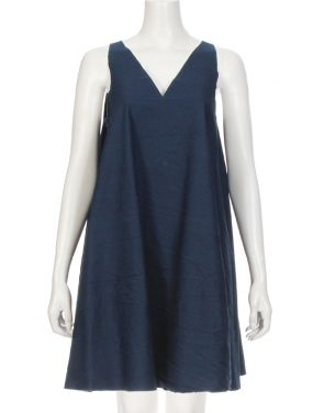photo Unfinished Tank Dress by Harvey Faircloth T13-DR04S16, Indigo color - Image 1