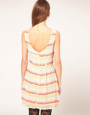 photo Skater Dress in Sequin by ASOS, color Multi - Image 2