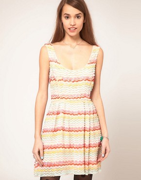 photo Skater Dress in Sequin by ASOS, color Multi - Image 1