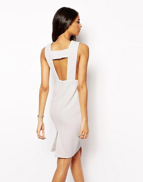 photo Karla Midi Dress with Cut Out Back by AQ AQ, color Cream - Image 2