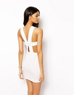 photo Chrissy 2 in 1 Dress with Strappy Back by AQ AQ, color Cream - Image 2