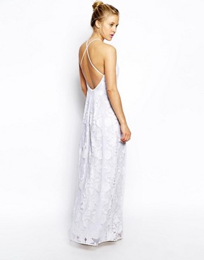 photo Maxi Dress by ASOS PREMIUM, color Ivory - Image 2
