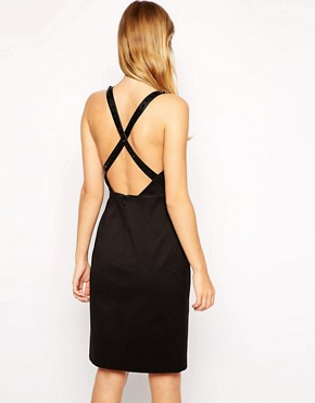 photo Band in Town Dress with Cut Out & Stud Trim by Stylestalker, color Black - Image 2