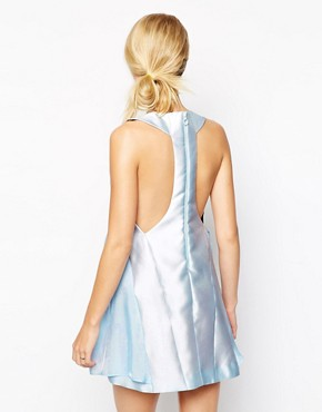 photo Dress in tulip shape with tulle panels by Alice McCall, color Blue - Image 2
