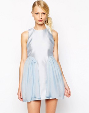 photo Dress in tulip shape with tulle panels by Alice McCall, color Blue - Image 1