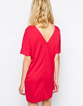 photo Dallas Dress in Tomato Red by Supertrash, color Tomato Red - Image 2