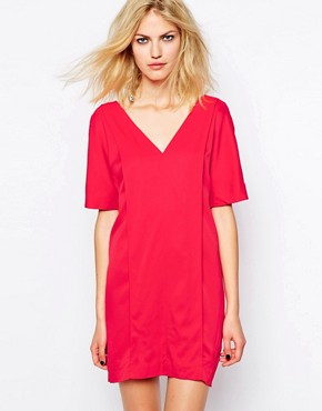 photo Dallas Dress in Tomato Red by Supertrash, color Tomato Red - Image 1