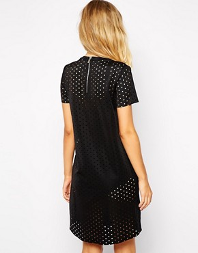 photo Perforated Dress with High Neck by Supertrash, color Black - Image 2