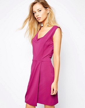 photo Dasha Dress with Drape Front by Supertrash, color Purple - Image 1
