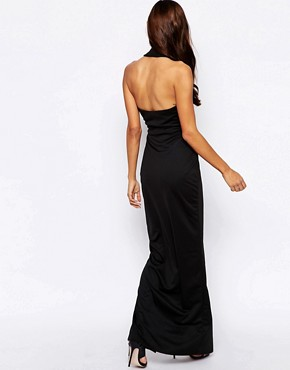 photo Jewel Halterneck Maxi Dress by AQ AQ, color Black - Image 2
