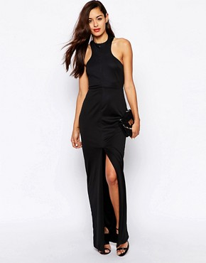 photo Jewel Halterneck Maxi Dress by AQ AQ, color Black - Image 1