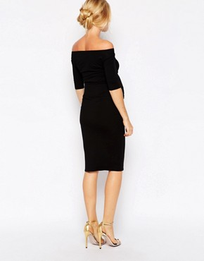 photo Bardot Dress with Half Sleeve by ASOS Maternity, color Black - Image 2