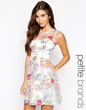 photo Floral Organza Sweetheart Prom Dress by Lipstick Boutique Petite, color Multi - Image 1