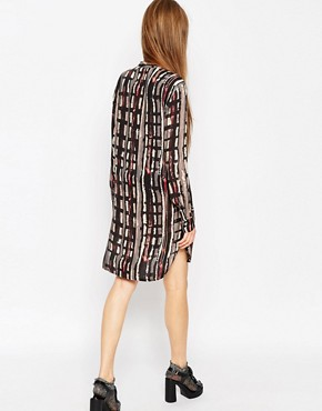 photo Placket Detail Shirt Dress in Abstract Print by ASOS AFRICA, color Multi - Image 2
