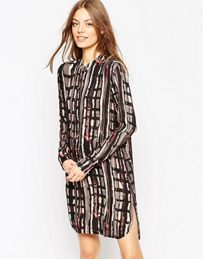 photo Placket Detail Shirt Dress in Abstract Print by ASOS AFRICA, color Multi - Image 1