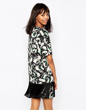 photo Pergola Dress in Leaf Print by Sportmax Code, color Pink - Image 2