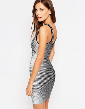 photo Hourglass Bodycon Dress by BCBGeneration, color Multi - Image 2