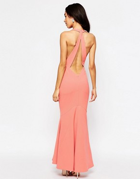 photo Carmelita Maxi Dress with Plunge Back by Jarlo Petite, color Nude - Image 2