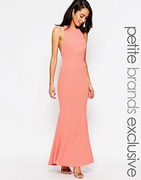 photo Carmelita Maxi Dress with Plunge Back by Jarlo Petite, color Nude - Image 1