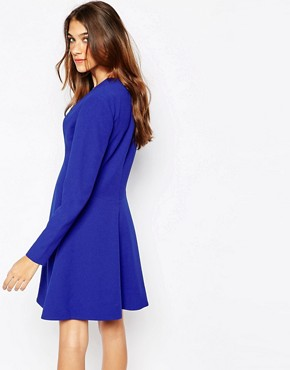 photo Skater Dress with High Waist Line by Essentiel Antwerp, color Blue - Image 2