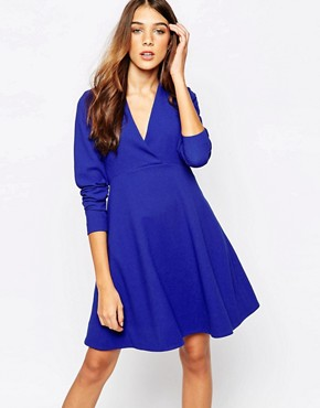 photo Skater Dress with High Waist Line by Essentiel Antwerp, color Blue - Image 1