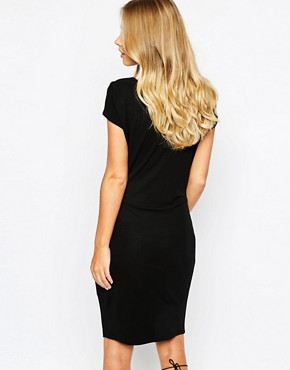 photo Dunster Bodycon Ruched Dress by Supertrash, color Black - Image 2
